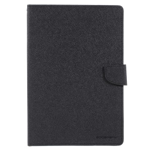 MERCURY GOOSPERY Wallet Leather Tablet Case for iPad 9.7 (2018) / 9.7 (2017) - All Black