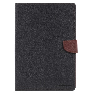 MERCURY GOOSPERY Wallet Leather Case for iPad 9.7-inch (2017) - Brown / Black