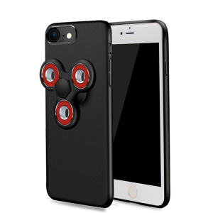 EDC Tri Fidget Spinner Toy Matte PC Phone Case for iPhone 7 4.7 inch - Black