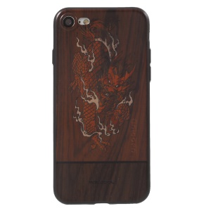 PAILEDOU Beast Series Embossed Pattern TPU Phone Case for iPhone 7 4.7 inch - Chinese Dragon