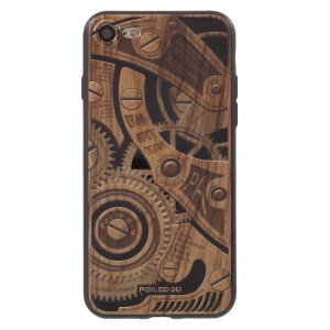 PAILEDOU Gear & Words Series Embossed Pattern TPU Mobile Case for iPhone 7 4.7 inch - Style A