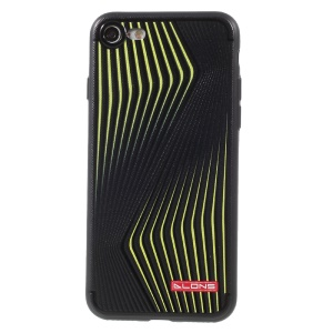 DLONS Dynamic Lines Series Embossment Soft TPU Case for iPhone 8 / 7 4.7 inch - Black