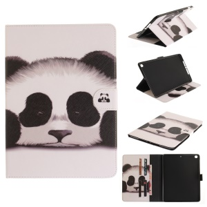 Pattern Printing Wallet Leather Smart Case for iPad 9.7-inch (2017) - Panda