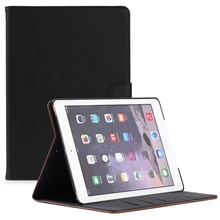 For iPad 9.7 (2018) / 9.7 (2017) Retro Crazy Horse Leather Stand Mobile Phone Shell - Black