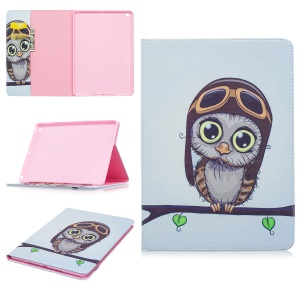 Pattern Printing Leather Wallet Flip Case for iPad Pro 9.7 inch - Adorable Owl