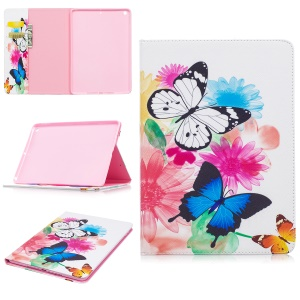 Pattern Printing Wallet Leather Cover with Stand for iPad Pro 9.7 inch - Vivid Butterflies