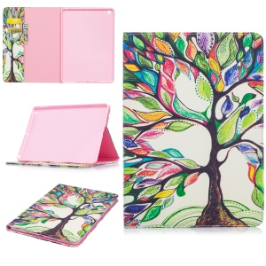 For iPad Pro 9.7 inch Pattern Printing Leather Wallet Flip Shell - Colorized Tree