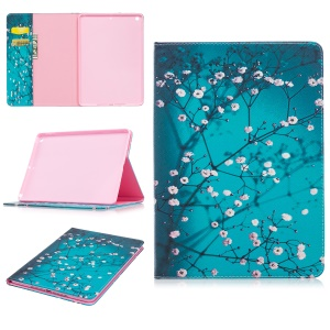 Pattern Printing Leather Wallet Protective Case for iPad Pro 9.7 inch - Tree with Flowers