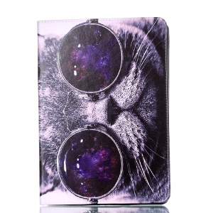 Pattern Printing PU Leather Casing with Stand for iPad Pro 10.5-inch- Cat