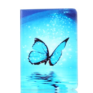Pattern Printing Leather Protective Casing with Stand for iPad Pro 10.5-inch - Blue butterfly