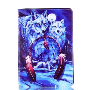 Pattern Printing PU Leather Shell with Stand for iPad Pro 10.5-inch - Wolfs
