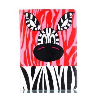 Pattern Printing Stand PU Leather Casing for iPad Pro 10.5-inch - Donkey