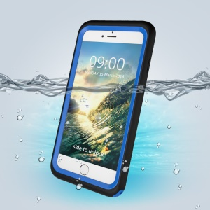 3-Meter Underwater Waterproof PC+TPU Shell for iPhone 7 with Responsive Buttons - Blue