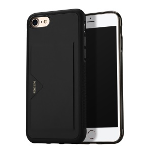 DUX DUCIS Pocard Series PU Leather Skin TPU Back Case with Card Slot for iPhone 8 / 7 4.7 inch - Black