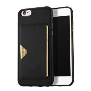 DUX DUCIS Pocard Series Card Slot PU Leather Skin TPU Phone Case for iPhone 6 / 6s 4.7-inch - Black