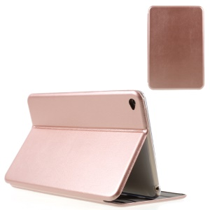 Shell Style Protective Leather Cover with Stand for iPad mini 4 - Rose gold