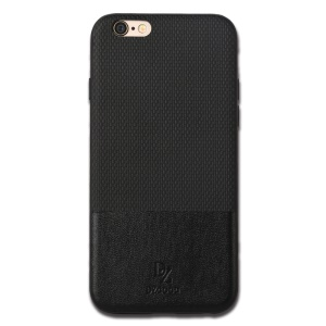 For iPhone 6s / 6 DZGOGO Luxury Series PU Leather Coated PC + TPU Back Case - Black