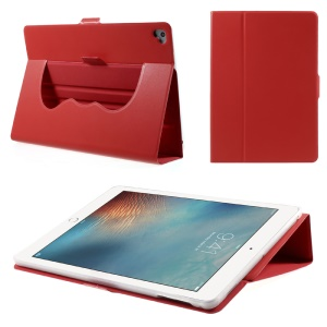 Magnetic 360-degree Rotary Stand Protective Leather Cover for iPad 9.7-inch (2017) - Red