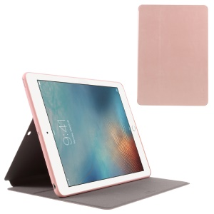 X-LEVEL Stand Leather Flip Case for iPad 9.7-inch (2017) - Rose Gold