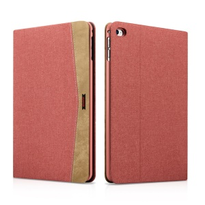 XOOMZ Textile en tissu PU Cuir Protective Stand Shell pour iPad Mini 4 - rouge
