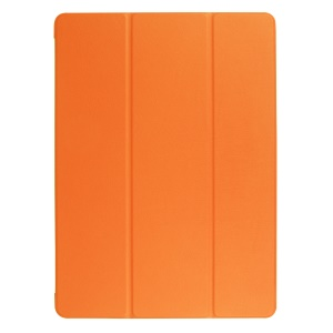 Smart Tri-fold Leather Cover with Stand for iPad Pro 12.9 (2017) - Orange