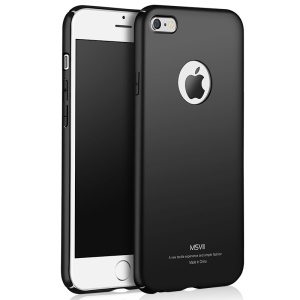 MSVII Ultra-thin Drop-Proof PC Phone Case for iPhone 6s 6 4.7 inch - Black