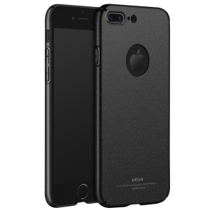 MSVII Ultra-thin Matte Anti-shock Plastic Phone Case for iPhone 7 Plus 5.5 inch - Black