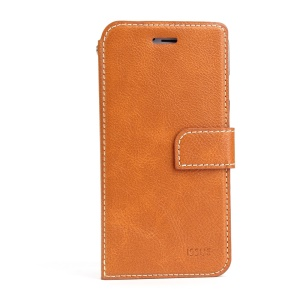 MOLAN CANO Wallet Stand Leather Flip Phone Case for iPhone 6s 6 4.7 - Brown