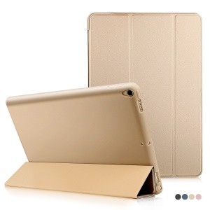 Auto-wake/sleep Tri-fold Stand Protective Leather Casing for iPad Air 10.5 (2019) / Pro 10.5-inch (2017) - Gold