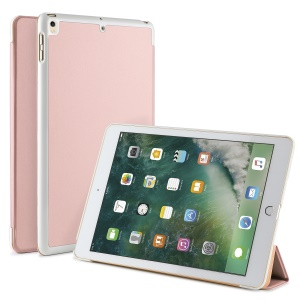 Auto-wake/sleep Tri-fold Stand Protective Leather Shell for iPad Air 10.5 (2019) / Pro 10.5-inch (2017) - Rose Gold