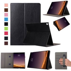 Para iPad Pro 12.9(2017) Wallet Stand Leather Tablet Case with Elastic Band - negro