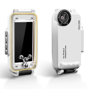 MEIKON IPX8 40m/130ft Underwater Waterproof Diving Case for iPhone 6s 6 4.7 inch - White