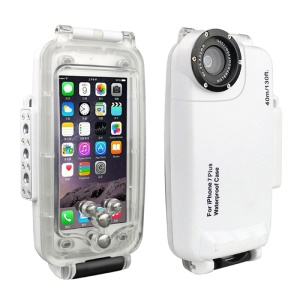 MEIKON IPX8 40m/130ft Underwater Diving Waterproof Case for iPhone 7 Plus 5.5 inch - White