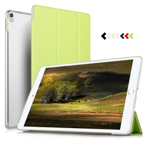 Auto-wake/sleep Protective Leather Cover with Tri-fold Stand for iPad Air 10.5 (2019) / Pro 10.5 (2017) - Green