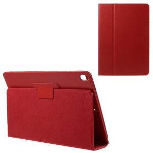 Litchi Texture Auto-wake/sleep Stand Protective Leather Cover for iPad Pro 10.5 (2017) - Red