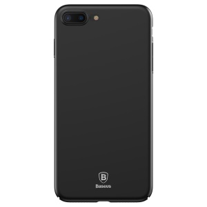 BASEUS Thin Hard Plastic Cell Phone Shell for iPhone 8 Plus / 7 Plus - Black