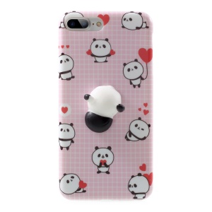 3D Soft Silicone Panda TPU Shell for iPhone 7 Plus