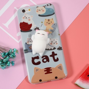 Squishy Pinch 3D Silicona Soft Cat Squishy TPU Shell para el iPhone 6s Plus / 6 Plus