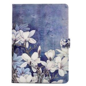 Wallet Stand Pattern Printing Leather Shell Case for iPad 9.7 (2017) - Blooming Flowers