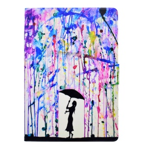 Watercolor Rain and Girl