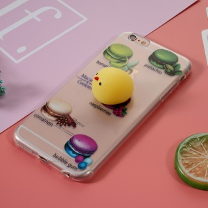 Squishy 3D Silicone Yolk TPU Cover for iPhone 6s Plus / 6 Plus - Macaroon