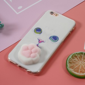3D Silicone Squishy Cat Paw TPU Shell for iPhone 6s 6 - Charming Cat