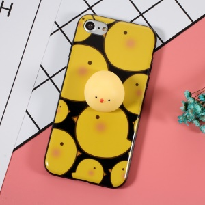 3D Nail Pinch Silicone Chick TPU Kneading Squishy Case for iPhone 8 / 7 4.7 inch - Multiple Chicken