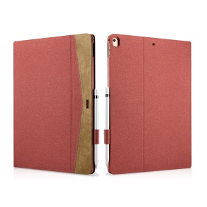 XOOMZ Cloth Texture PU Leather Smart Protective Stand Cover for iPad Pro 12.9 - Red
