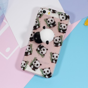 Squishy 3D Silicone Kneading Panda TPU Case for iPhone SE/5s/5 - Panda Pattern