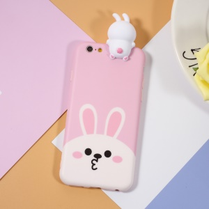 3D Cute Doll Pattern Printing TPU Cover Case for iPhone 6s 6 - Lovely Rabbit