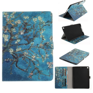 Pattern Printing Smart PU Leather Wallet Flip Cover for iPad 9.7 (2017) - Tree with Flowers
