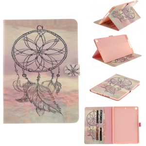 Patterned Auto-Wake / Sleep PU Leather Wallet Tablet Shell for iPad 9.7 (2017) - Dream Catcher