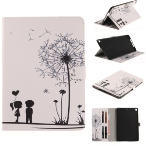Pattern Printing Smart PU Leather Tablet Cover Casing for iPad 9.7 (2017) - Dandelion and Lovers