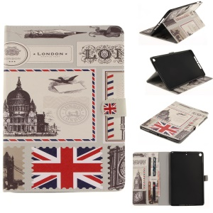 Pattern Printing Smart Leather Protective Cover for iPad 9.7 (2017) - UK Flag